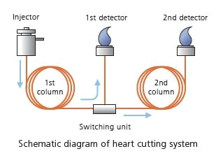 Schematic diagram of heart cutting system