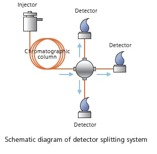 Schematic diagram of detector splitting system