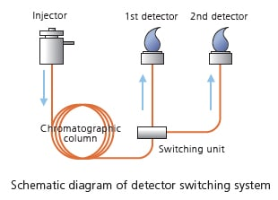 Schematic diagram of detector switching system