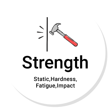 Strength Static,Hardness,Fatigue,Impact