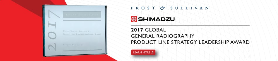 Shimadzu Corporation receives Frost & Sullivan 2017 Global General Radiography Product Line Strategy Leadership Award.
